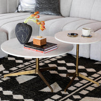 Helen Round Coffee Table, Raw Brass - Modern Furniture - Coffee Tables - High Fashion Home