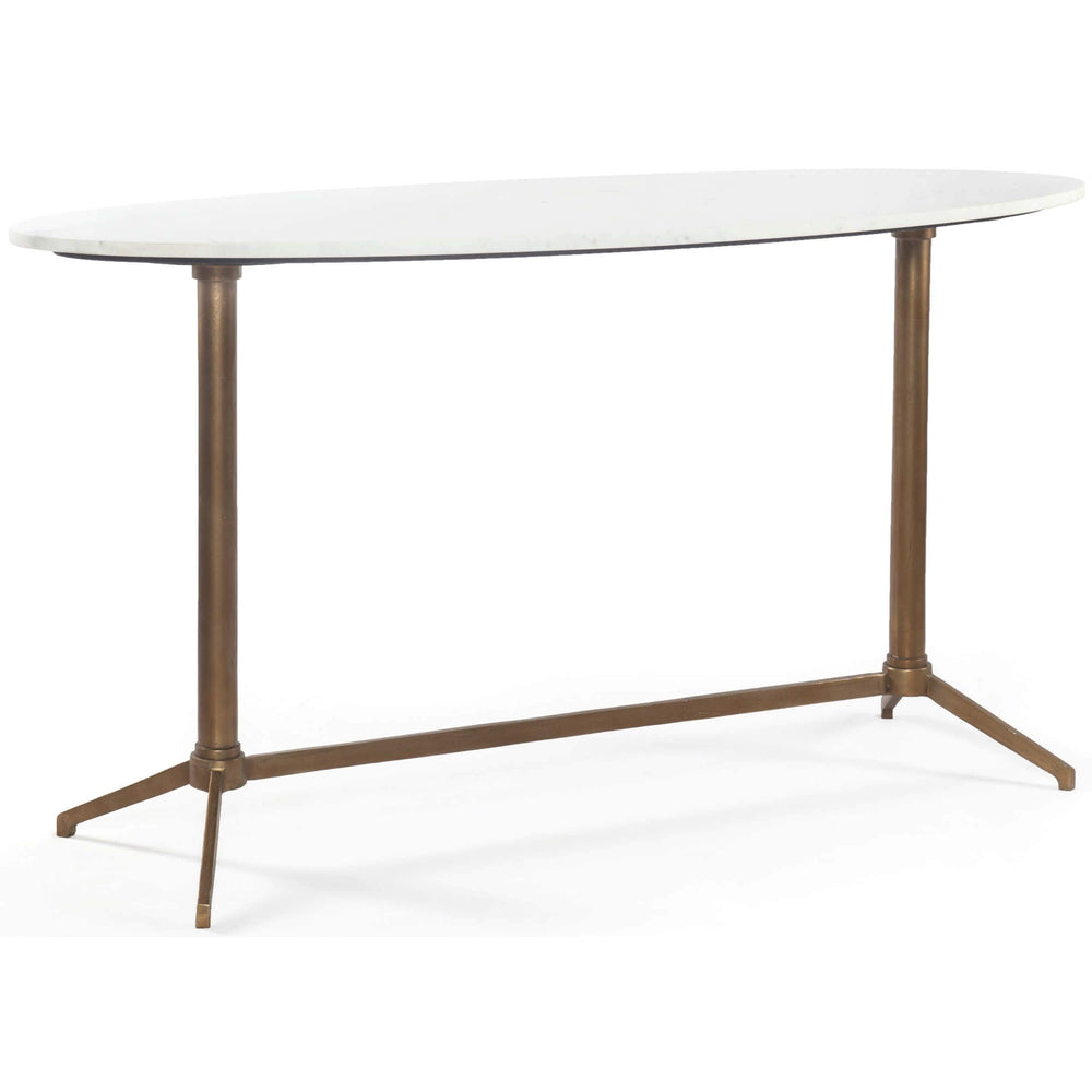 Helen Console Table, Raw Brass - Furniture - Accent Tables - High Fashion Home