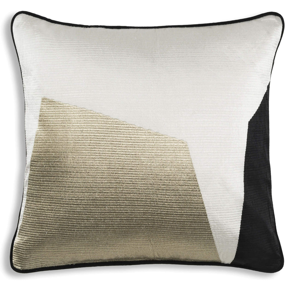 Cloud 9 Hudson Pillow, Black, White & Gold - Accessories - High Fashion Home