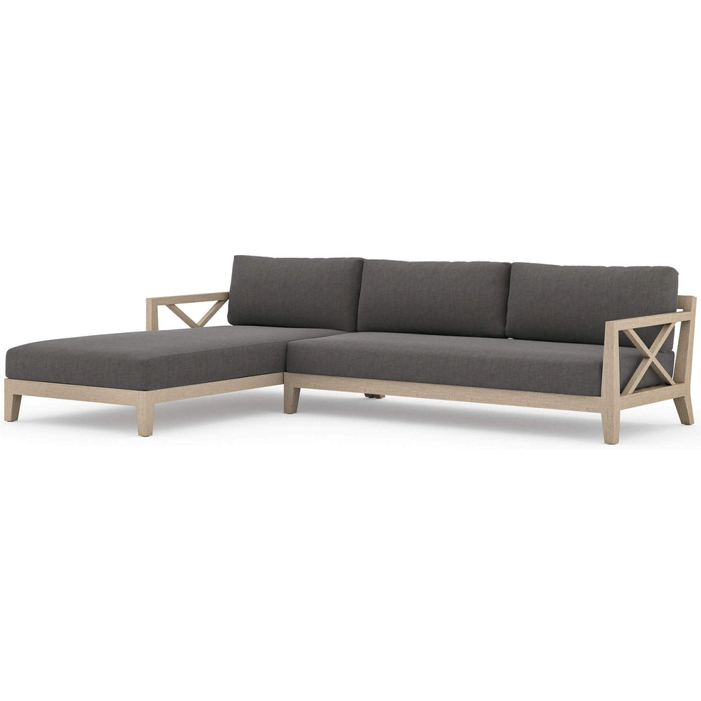 Huntington LAF Outdoor Sectional, Charcoal - Furniture - Sofas - High Fashion Home
