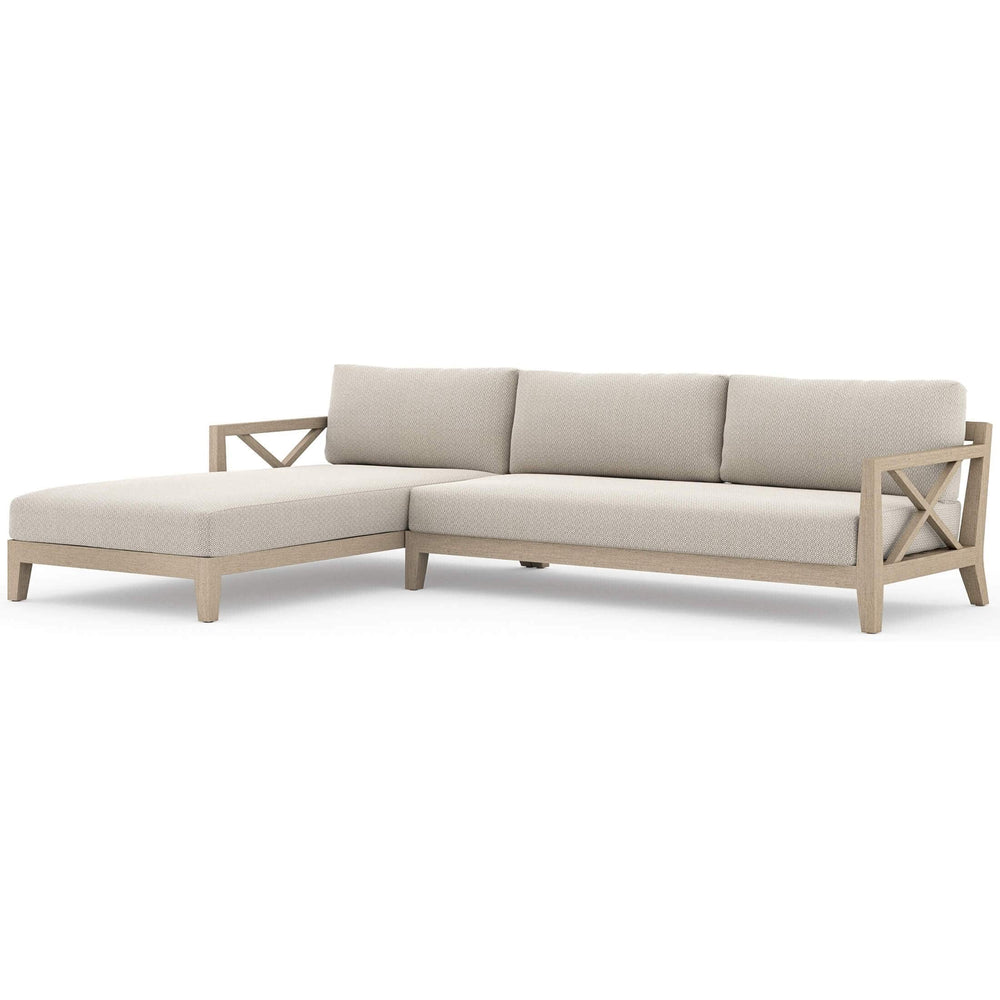 Huntington LAF Outdoor Sectional, Faye Sand - Furniture - Sofas - High Fashion Home