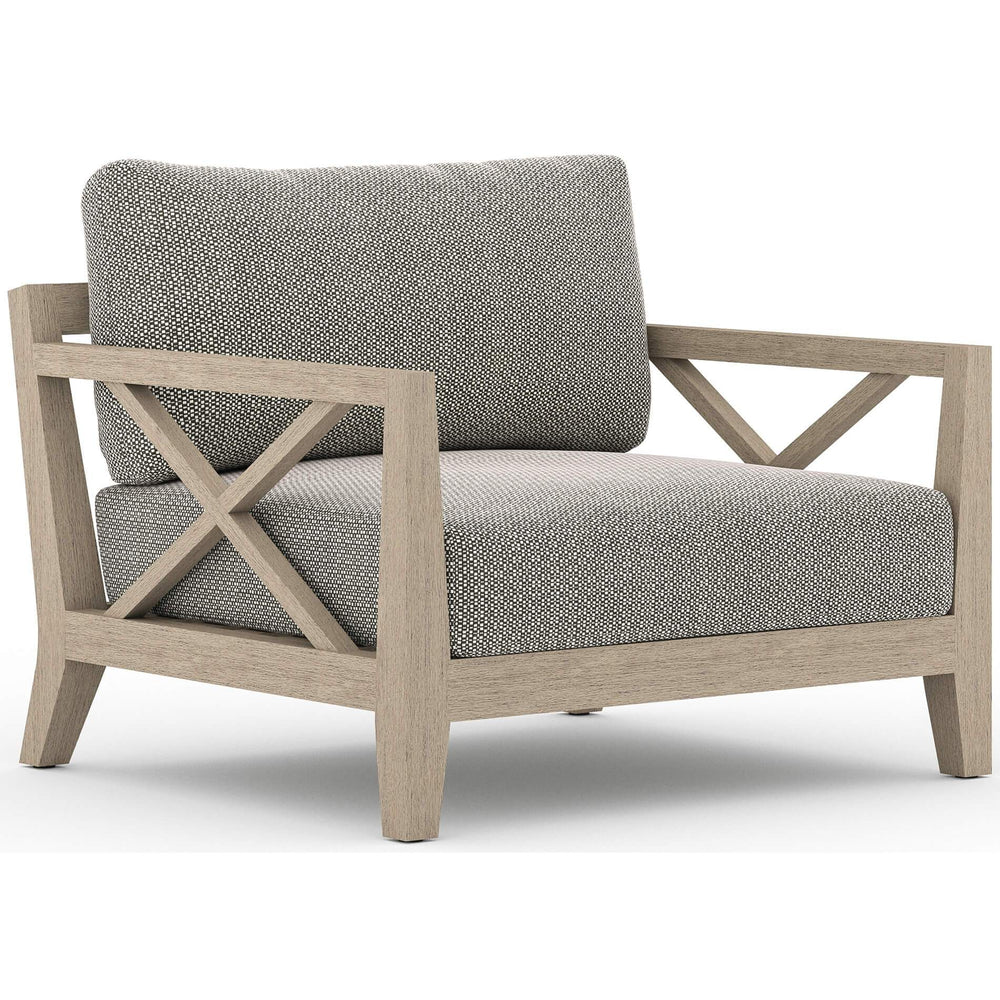 Huntington Outdoor Chair, Faye Ash/Washed Brown Frame - Furniture - Chairs - High Fashion Home
