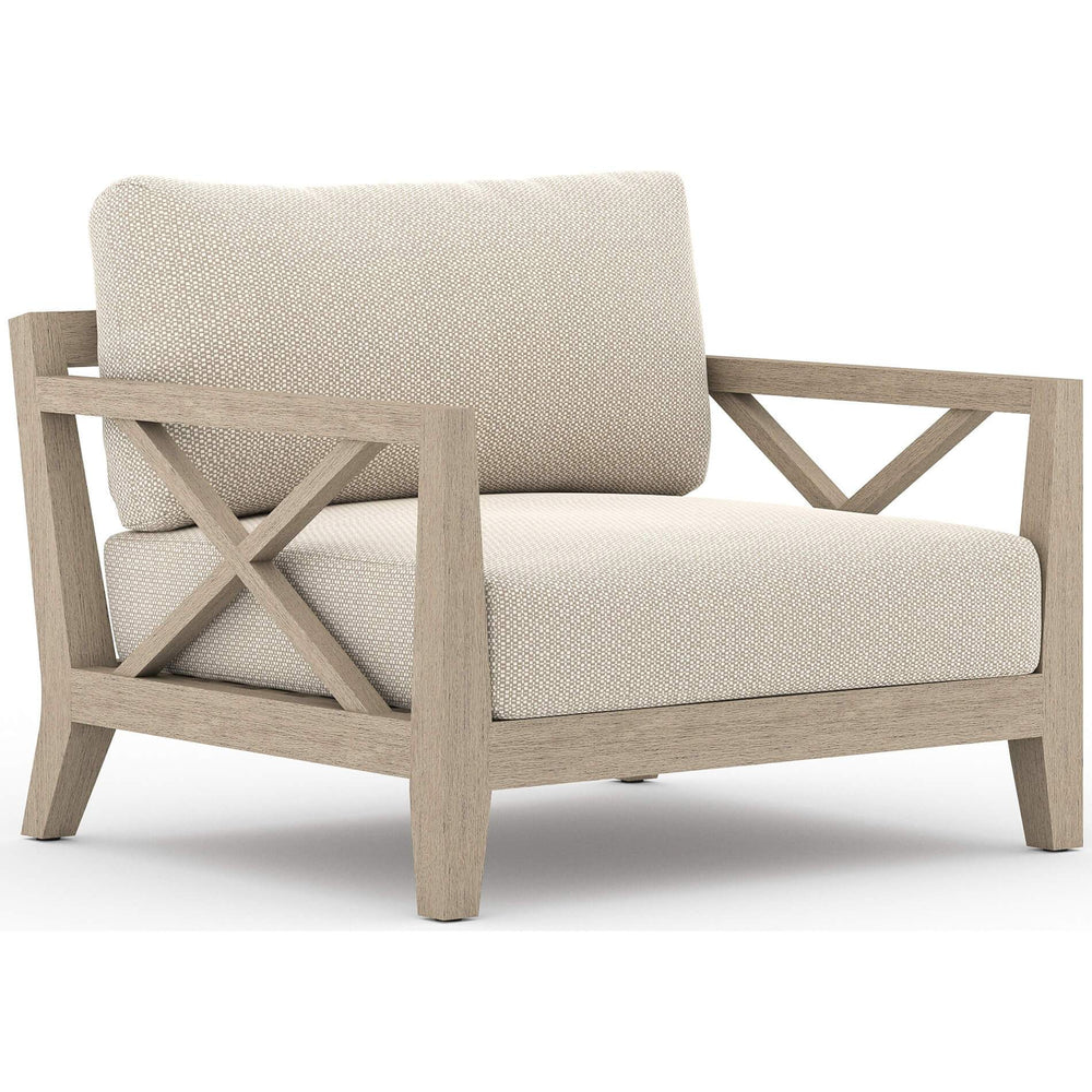 Huntington Outdoor Chair, Faye Sand/Washed Brown Frame - Furniture - Chairs - High Fashion Home
