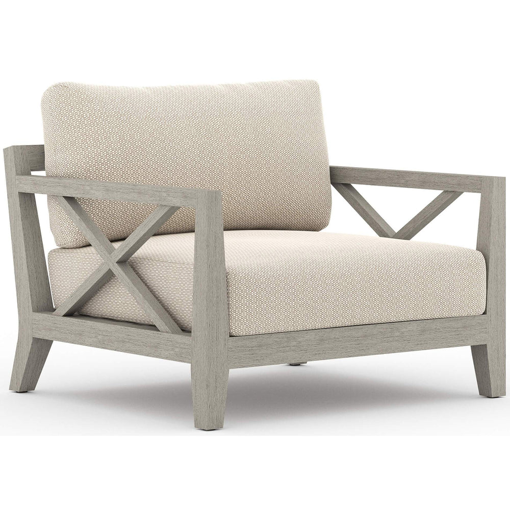 Huntington Outdoor Chair, Faye Sand/Weathered Grey Frame - Furniture - Chairs - High Fashion Home