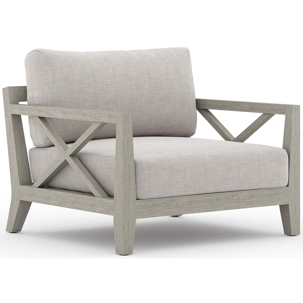 Huntington Outdoor Chair, Stone Grey/Weathered Grey Frame - Furniture - Chairs - High Fashion Home