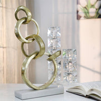 Interlock Rings on Stand, Gold - Accessories - High Fashion Home