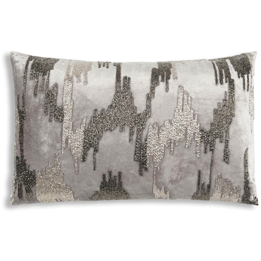 Cloud 9 Jade Lumbar Pillow, Grey - Accessories - High Fashion Home