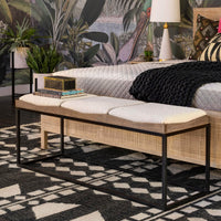 Josephine Bench, Knoll Natural - Furniture - Chairs - High Fashion Home