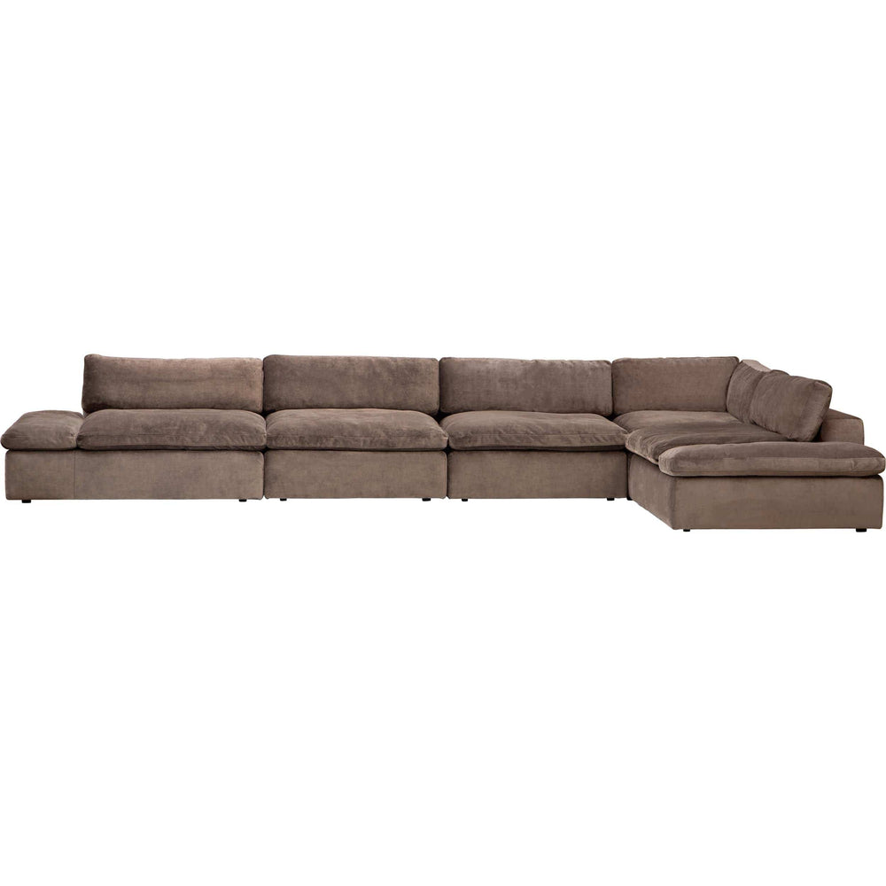 Julian 5 Piece Modular Sectional, Romo Loden - Modern Furniture - Sectionals - High Fashion Home