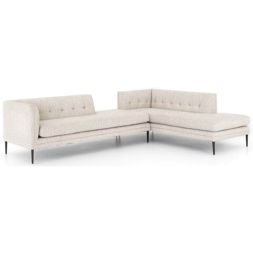 Kingsley LAF Bumper Chaise Sectional, Lyon Pewter - Modern Furniture - Sectionals - High Fashion Home