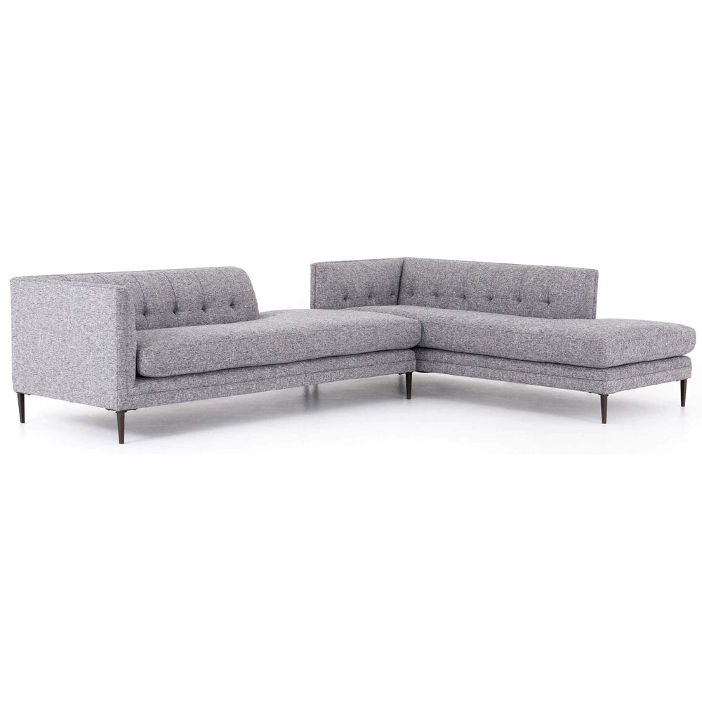 Kingsley LAF Bumper Chaise Sectional, Lyon Slate - Modern Furniture - Sectionals - High Fashion Home