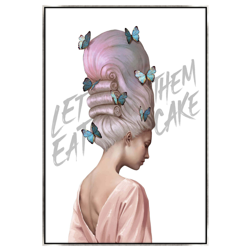 Let Them Eat Cake Poly Silver Float Framed - Accessories Artwork - High Fashion Home