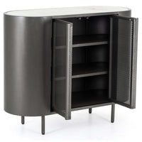Libby Small Cabinet, Gunmetal - Furniture - Storage - High Fashion Home