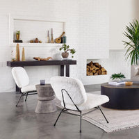 Lina End Table, Dark Grey - Furniture - Accent Tables - High Fashion Home