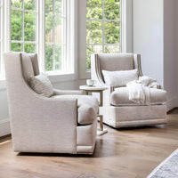 Lindsay Swivel Chair, Pearl - Furniture - Chairs - High Fashion Home
