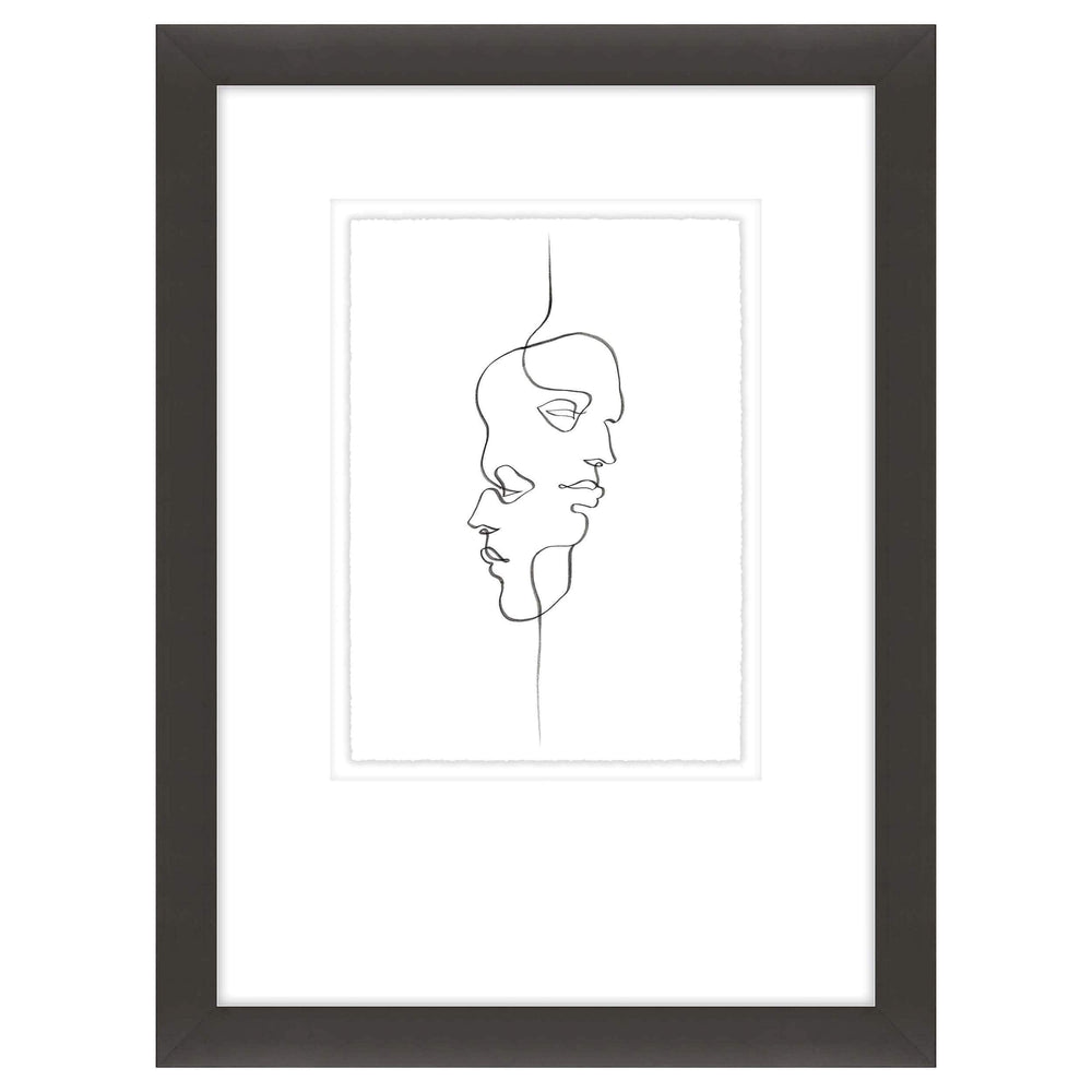 Line Portraits II Framed - Accessories Artwork - High Fashion Home