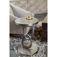 Linea Round Chairside Table-Furniture - Accent Tables-High Fashion Home
