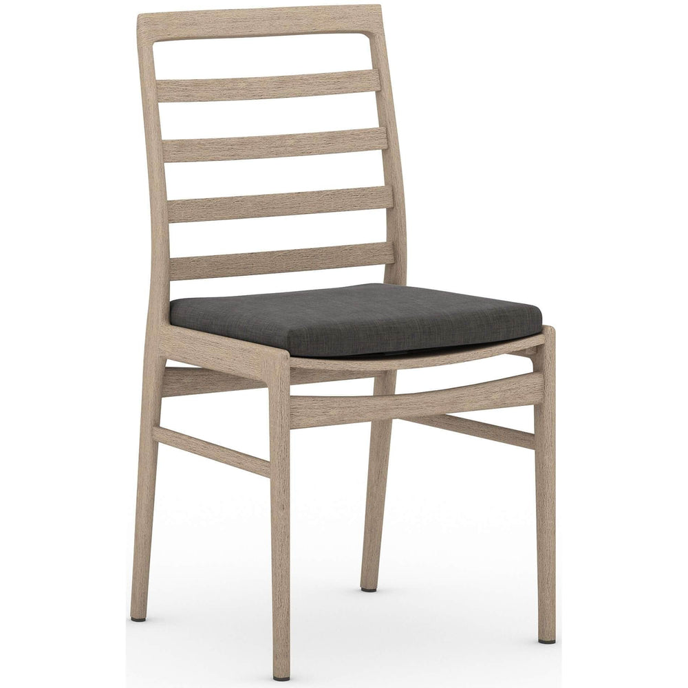 Linnet Outdoor Dining Chair, Charcoal/Washed Brown Frame - Furniture - Dining - High Fashion Home