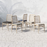 Linnet Outdoor Dining Chair, Faye Navy/Washed Brown Frame - Furniture - Dining - High Fashion Home