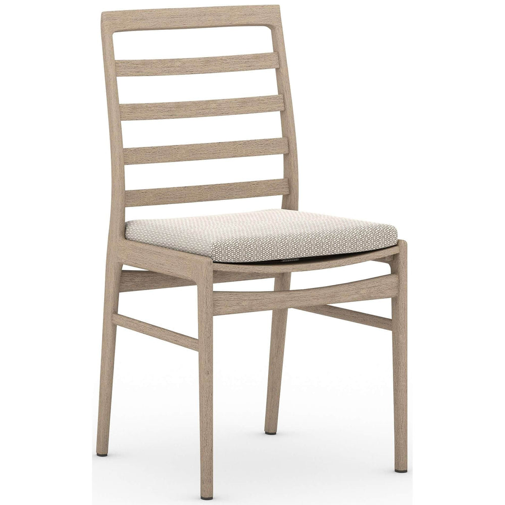 Linnet Outdoor Dining Chair, Faye Sand/Washed Brown Frame - Furniture - Dining - High Fashion Home