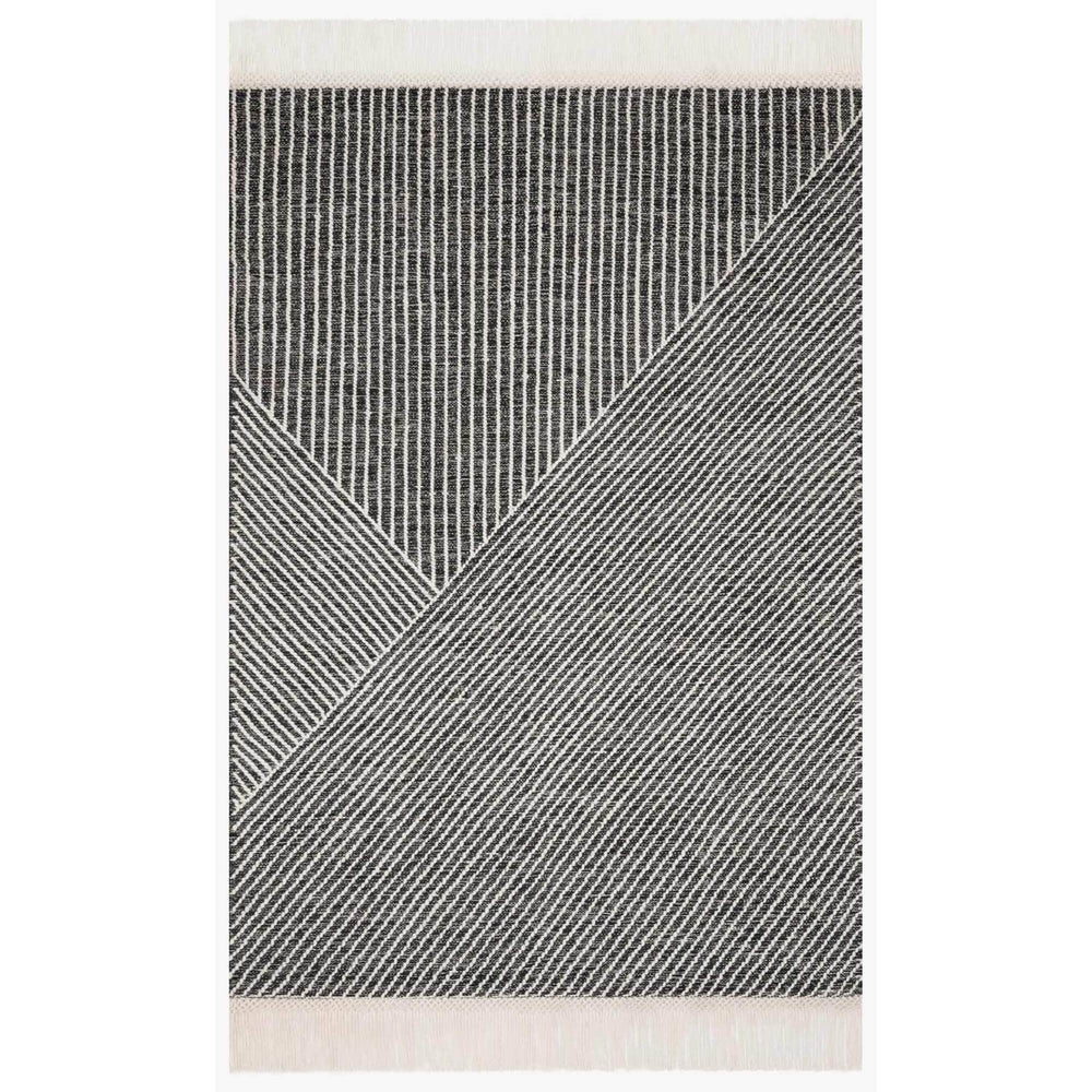 Loloi Magnolia Home Rug Newton NET-01, Charcoal/Ivory - Rugs1 - High Fashion Home