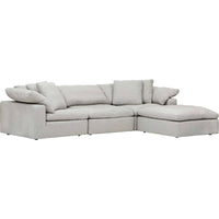 Mateo 4 Piece Modular Sectional, Fredrickson Marble - Modern Furniture - Sectionals - High Fashion Home