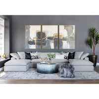 Mateo 6 Piece Modular Sectional, Fredrickson Marble - Modern Furniture - Sectionals - High Fashion Home