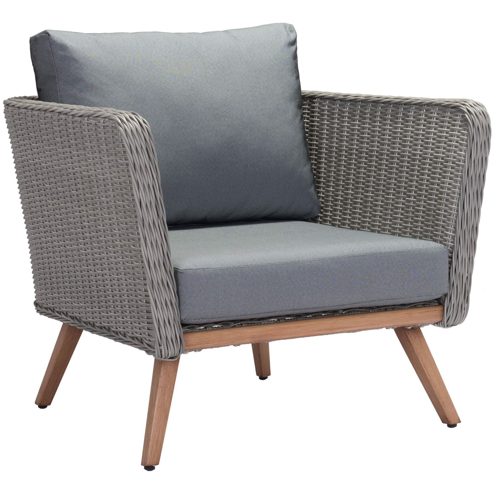 Monaco Outdoor Arm Chair, Gray - Modern Furniture - Accent Chairs - High Fashion Home
