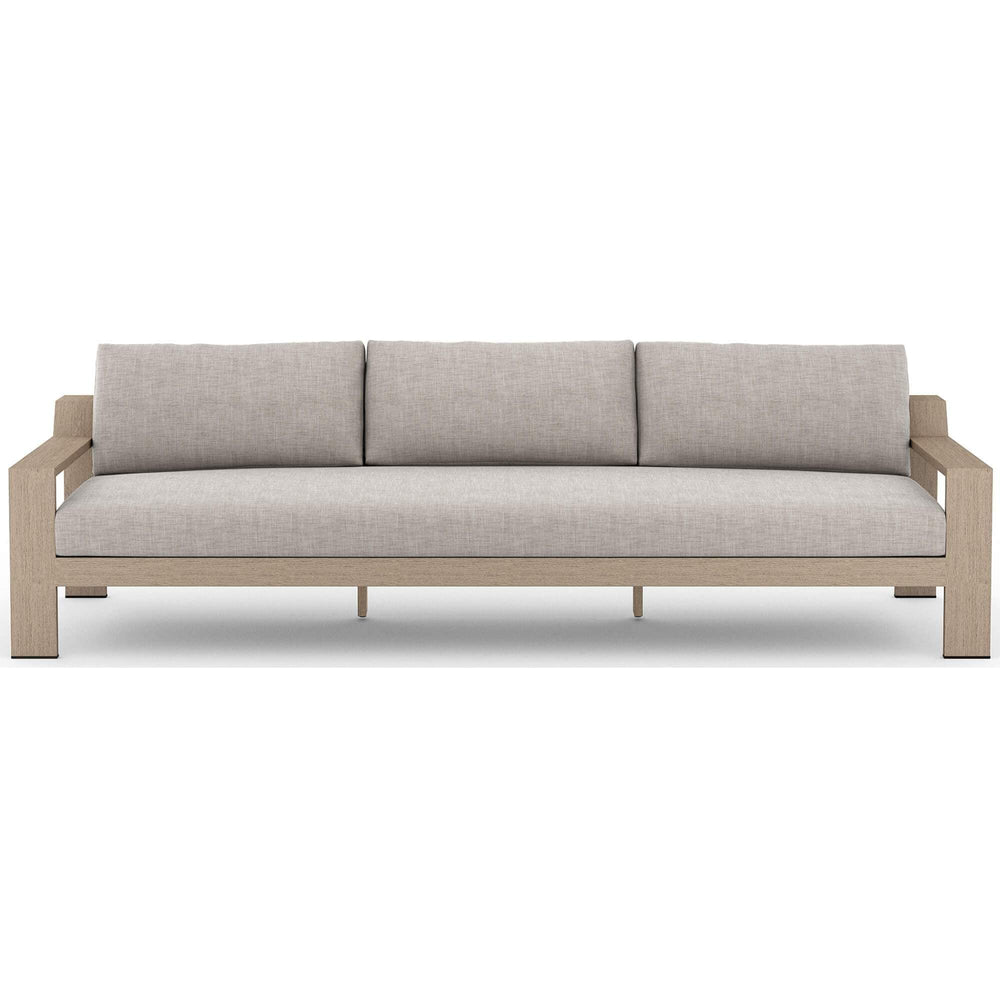 "Monterey 106"" Outdoor Sofa, Stone Grey - Furniture - Sofas - High Fashion Home"