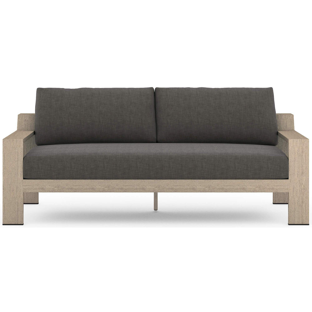 "Monterey 74"" Outdoor Sofa, Charcoal - Furniture - Sofas - High Fashion Home"