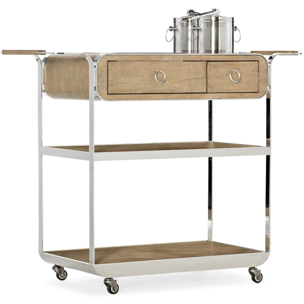 Novella Poplar Beach Bar Cart - Furniture - Dining - High Fashion Home