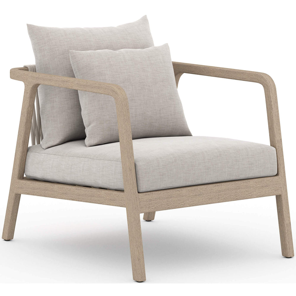 Numa Outdoor Chair, Stone Grey/Washed Brown - Modern Furniture - Accent Chairs - High Fashion Home