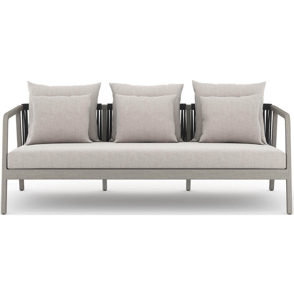 Numa Outdoor Sofa, Stone Grey/Weathered Grey - Modern Furniture - Sofas - High Fashion Home