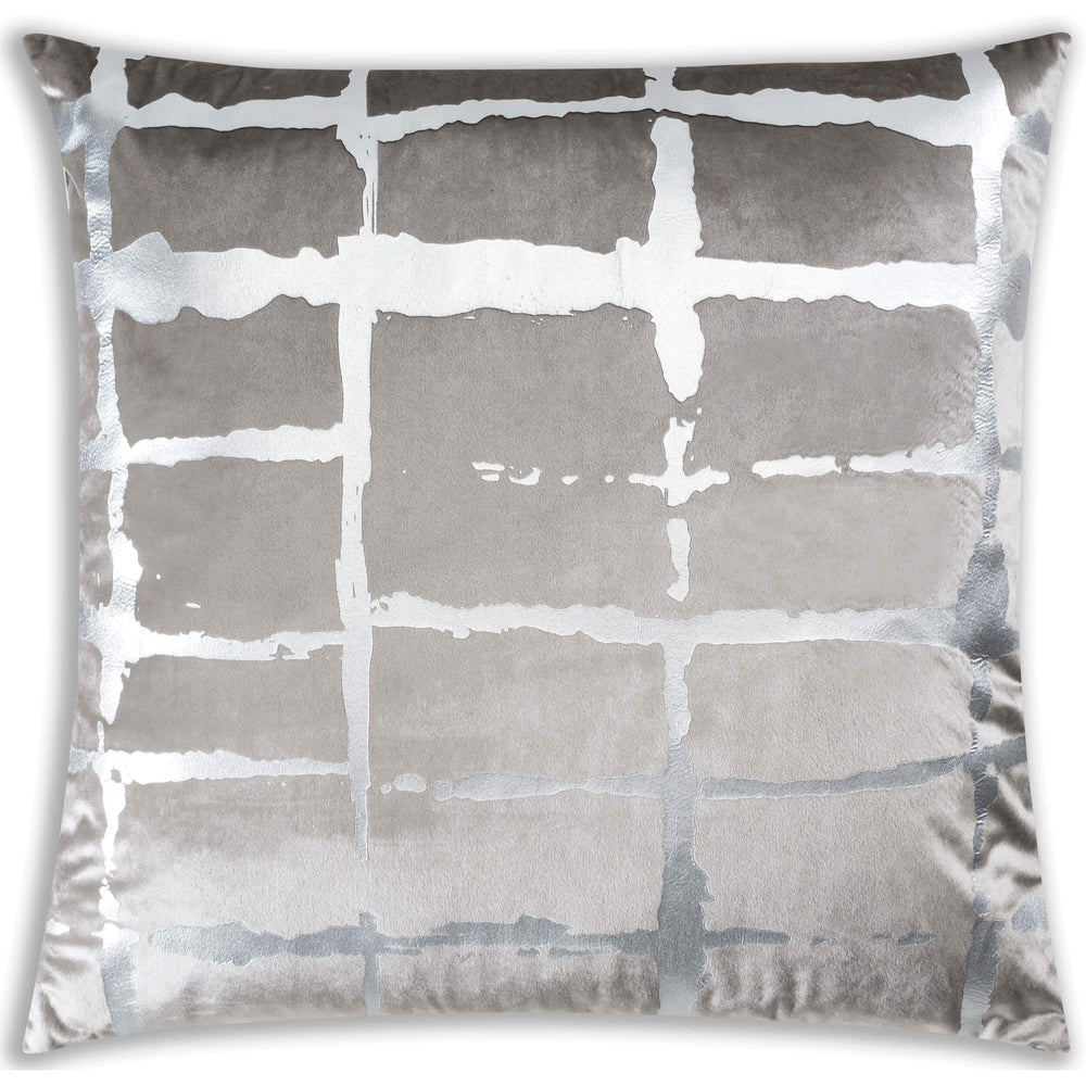 Oslo Velvet Pillow, Grey-Accessories-High Fashion Home