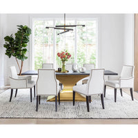Oliver Arm Chair, Nomad Snow - Furniture - Dining - High Fashion Home