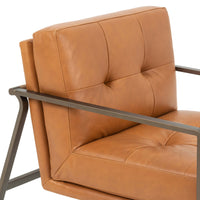Ophelia Leather Chair, Hudson Lager - Modern Furniture - Accent Chairs - High Fashion Home