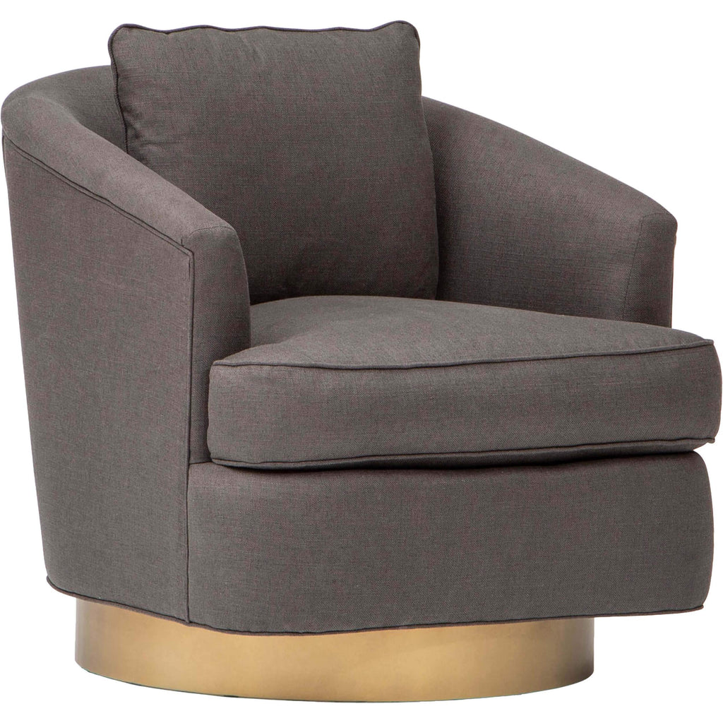 Ophelia Swivel Chair Charcoal Brown
