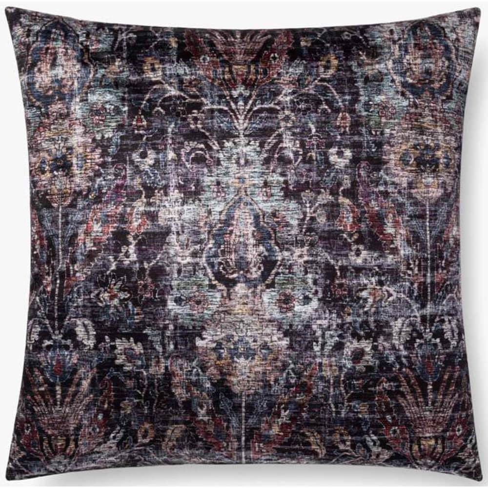 Loloi Evleen Pillow, Black/Multi - Accessories - High Fashion Home