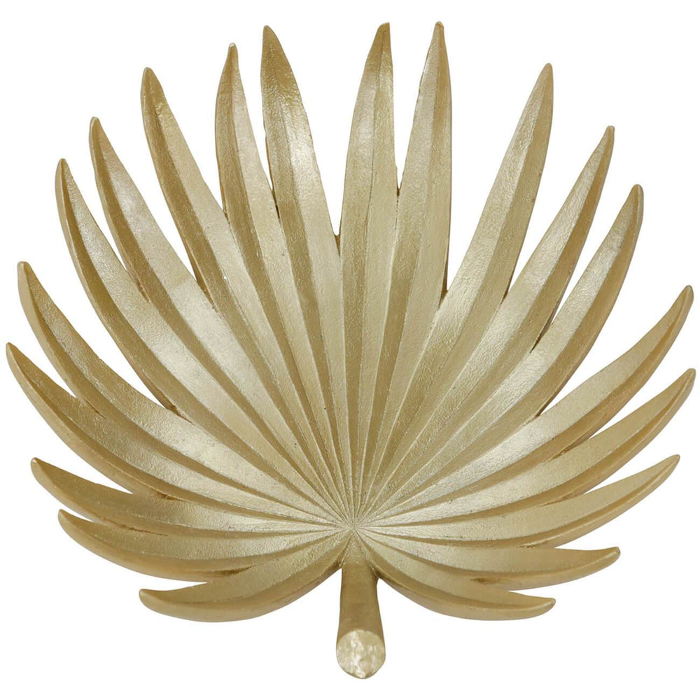 "Palm Leaf, 16"", Gold - Accessories - High Fashion Home"