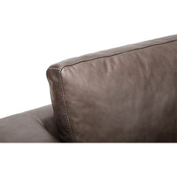 Paul Leather Sofa, Marseille Concrete - Modern Furniture - Sofas - High Fashion Home