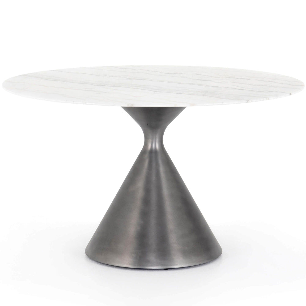 Peoria Dining Table, White Marble