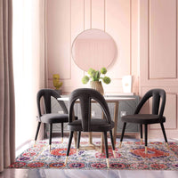 Petra Side Chair, Dark Grey - Furniture - Dining - High Fashion Home