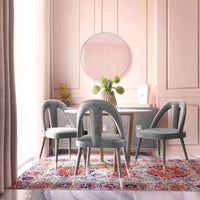 Petra Side Chair, Light Grey - Furniture - Dining - High Fashion Home