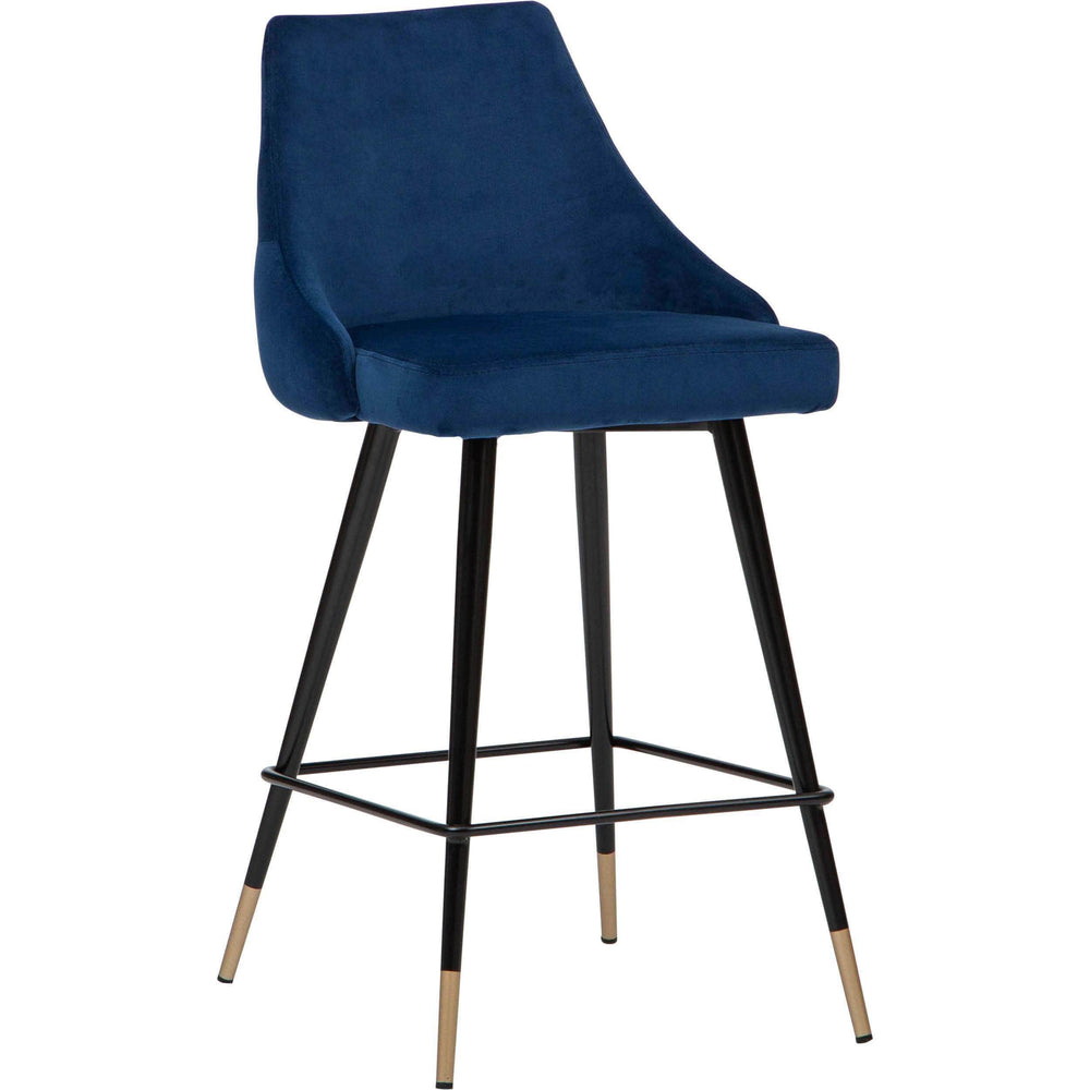 Piccolo Counter Chair, Navy - Furniture - Dining - High Fashion Home