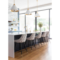 Piccolo Counter Chair, Gray - Furniture - Chairs - High Fashion Home