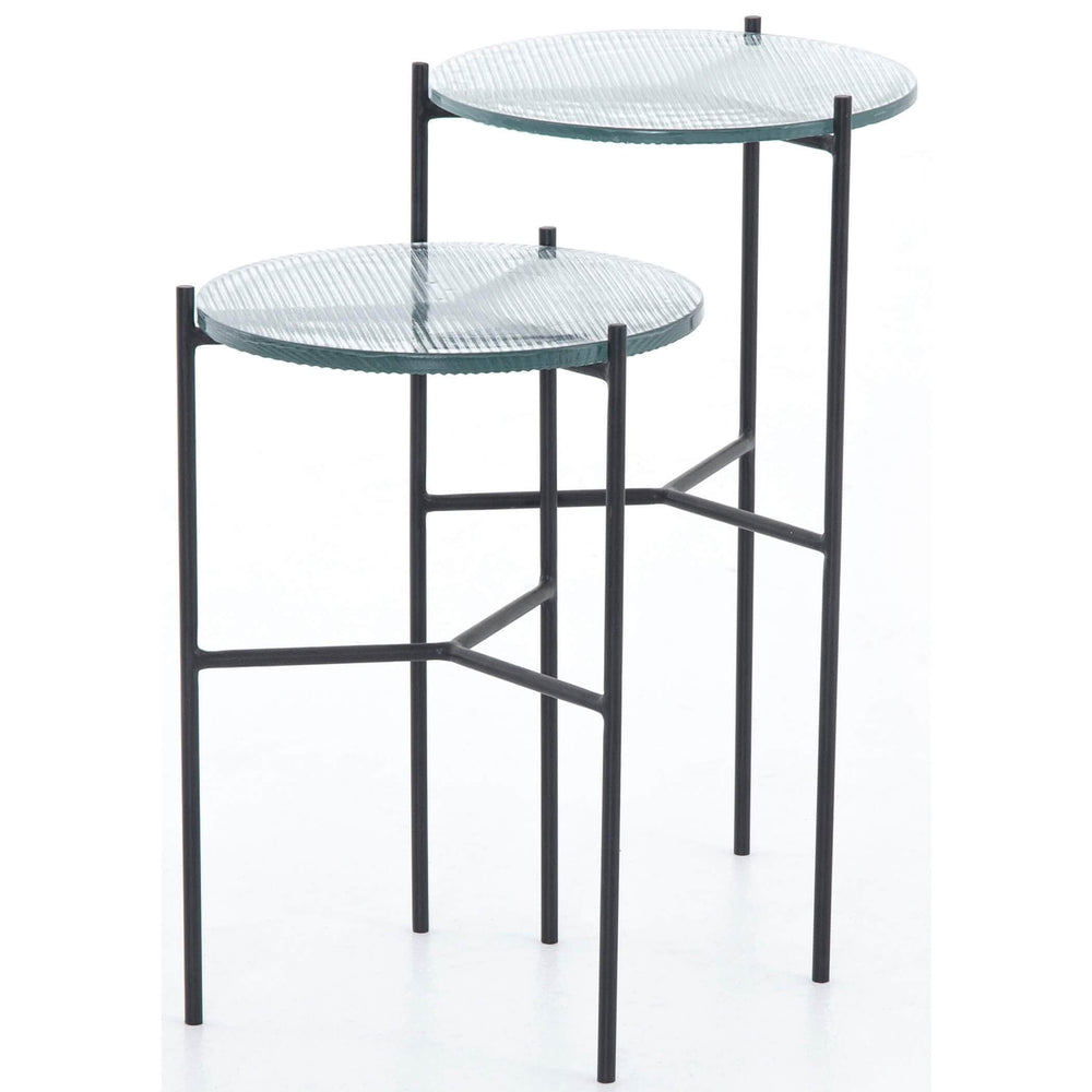 Poppy End Tables, Ribbed Glass (Set of 2) - Furniture - Accent Tables - High Fashion Home