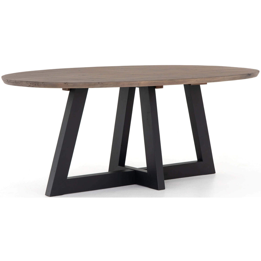 Pryce Oval Dining Table, Sundried Ash - Modern Furniture - Dining Table - High Fashion Home
