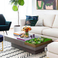 Quill Rectangular Coffee Table, Grey - Modern Furniture - Coffee Tables - High Fashion Home
