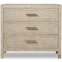 Raffles 3 Drawer Nightstand - Furniture - Bedroom - High Fashion Home