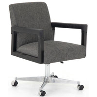 Reuben Desk Chair, Ives Black - Furniture - Office - High Fashion Home